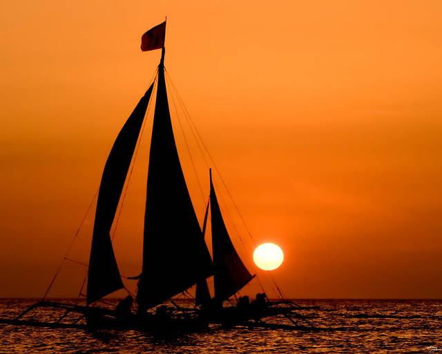 sunset sailing boats rocks - photo #49