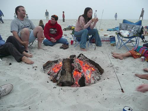 Gathering around the bonfire by asmythie