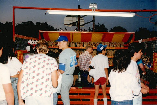 Saint Clair of Montifalco annual summer carnival. Chicago Illinois. June 1988. by Eddie from Chicago