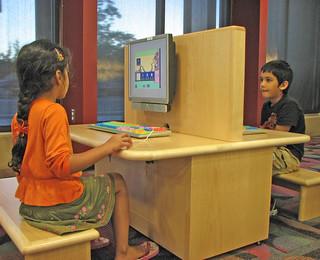 Children using computers.