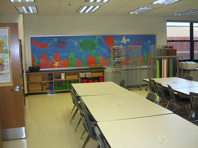 My art classroom 2008 mural wall outer storage flickr for Classroom wall mural