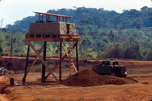 Perimeter Guard Tower 11th ACR - Xuan Loc - 1967 by 7th Surgical Hospital (MA)  Vietnam