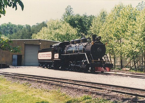 The enginehouse at the Dollywood Amusement Park. Pidgeon Forge Tennesee. May 1990. by Eddie from Chicago