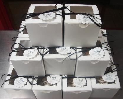 Wedding Favors S 39mores S 39mores cuppies all boxed up with a ribbon and