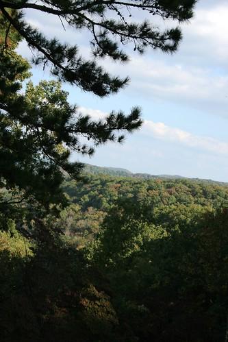 autumn clouds river landscape missouri ozarks roaring melton