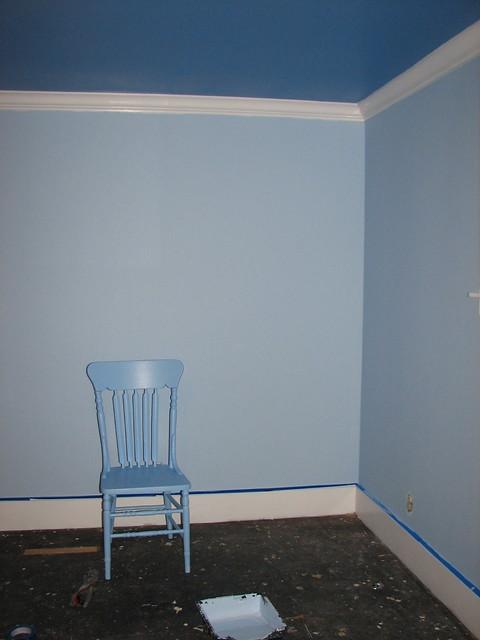 Light Wall Dark Ceiling : guest room Dark blue ceiling, light blue walls, and medium? Flickr - Photo Sharing!