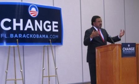 Gov. Bill Richardson Campaigning for Barack Obama, Port Charlotte, Fla., Oct. 21, 2008