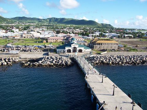 View of port zante from our ship basseterre saint kitts for Port zante st kitts