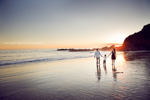 california sunset beach fire smoke