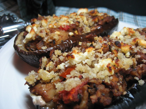 Pecan-Stuffed Eggplant - Vegetarian Recipe