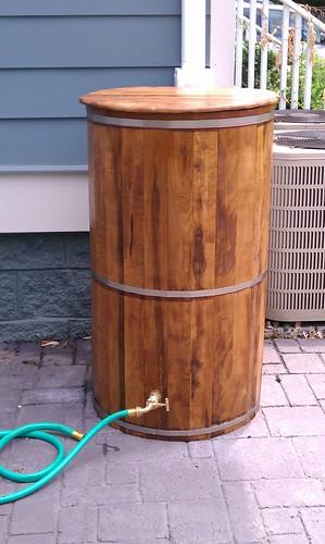 I heart my rain barrel diy del ray for Diy small rain barrel