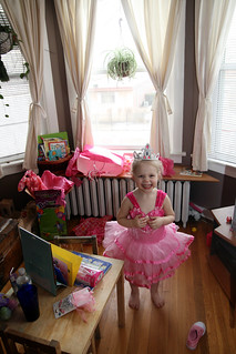 birthday girl at her party