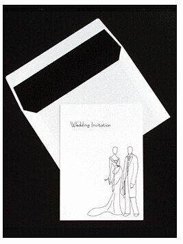 Black And White Wedding Invitations-Glamour