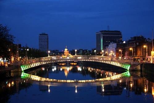 Lovely Night in Dublin - Ha'Penny Bridge Smile =)