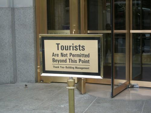No queremos turistas
