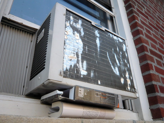 how to build a window air conditioner support