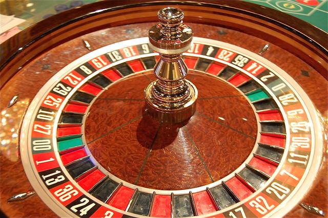 Vegas roulette wheel