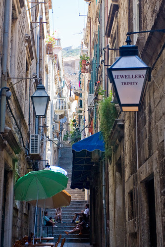 Dubrovnik alley and stairs