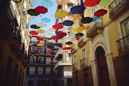 Foto de los paraguas en Alicante