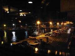 La Vista del Puerto de Guetaria desde el Restaurante El Astillero