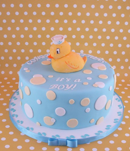 Ducky shower cake