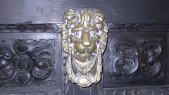 carving, art, sculpture, metal, door knocker,