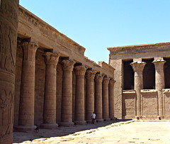 arch(0.0), monastery(0.0), temple(0.0), hindu temple(0.0), place of worship(0.0), fortification(0.0), egyptian temple(1.0), ancient roman architecture(1.0), ancient history(1.0), building(1.0), historic site(1.0), architecture(1.0), history(1.0), ancient greek temple(1.0), roman temple(1.0), ruins(1.0), column(1.0), archaeological site(1.0),