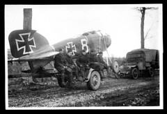 Captured German aeroplane