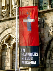 Flag outside of the In Flanders Fields Museum, Ieper
