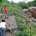 The Bamboo Train.Building the train