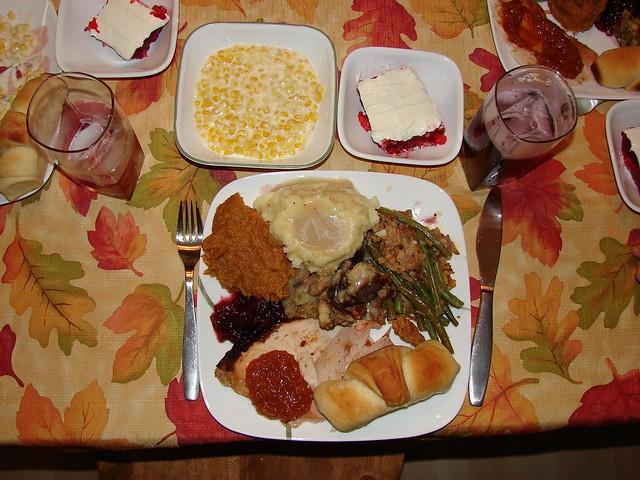 Thanksgiving dinner plate | Flickr - Photo Sharing!