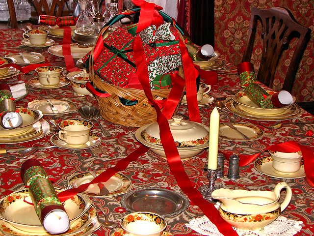 Traditional Christmas table setting, Fort Edmonton Park | Flickr