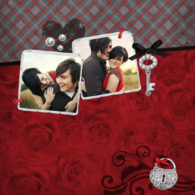 Immortal love engagement and wedding digital scrapbooking kits available on