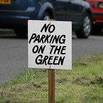 NO PARKING ON THE GREEN