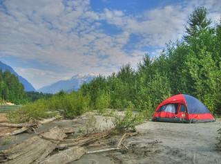 Campsite on the Squamish River