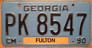 GEORGIA 1990 COMMERCIAL TRUCK NOT FOR HIRE plate