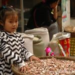 Chinese Child Sifting Garlic - Guizhou Province, China