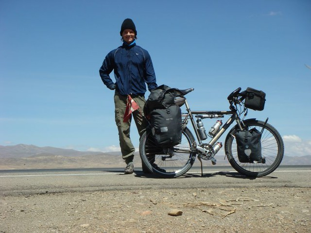 Nicolai and the Koga on the Bolivian altiplano...