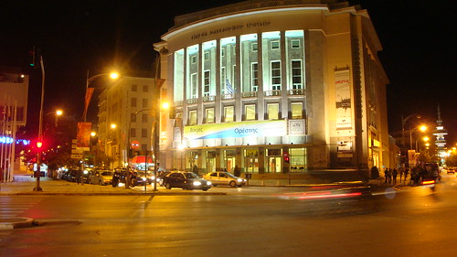 Royal Theatre of Thessaloniki at night