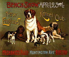 New England Kennel Club bench show, promotional poster, ca. 1890
