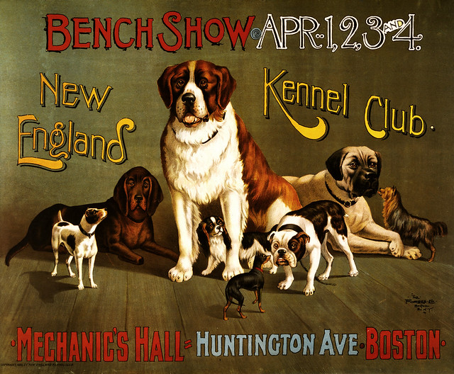 New England Kennel Club Bench Show Promotional Poster Ca