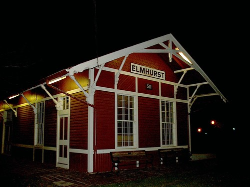 The preserved Chicago Great Western Railroad Elmhurst depot. Elmhurst Illinois. November 2006. by Eddie from Chicago