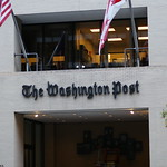 The entrance to the Washington Post on 15th street Northwest DC
