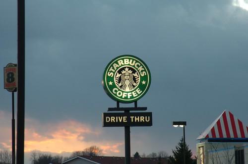 sunset sign virginia starbucks drivethru waynesboro