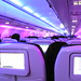 Virgin America flight interior
