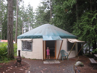 Yurt, outside