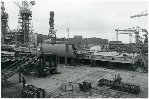 HMS Ark Royal - under construction - 13th March 1979