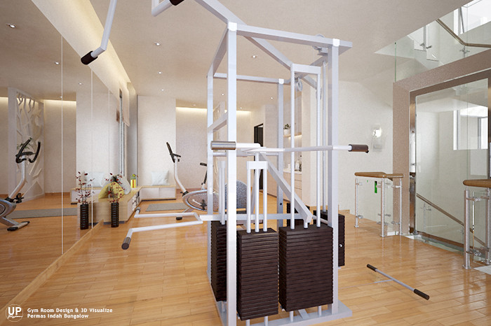 Modern house gym room design idea_02