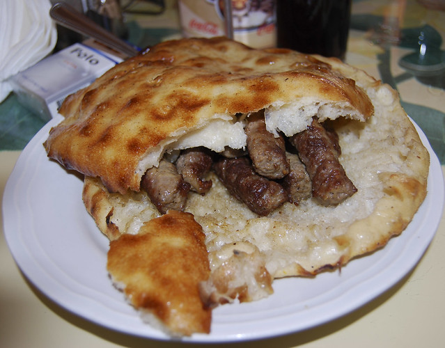 Cevapi by CC user brendaannerl on Flickr