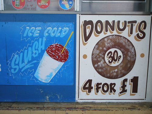 Ice cold slush/Donuts